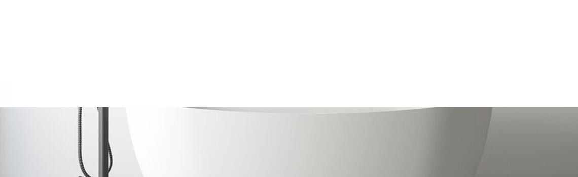 Bañera exenta Solid Surface Ness 165x78 cm. Bañera de libre instalación con rebosadero interno. Una bañera de líneas curvas con una frágil curvatura.
