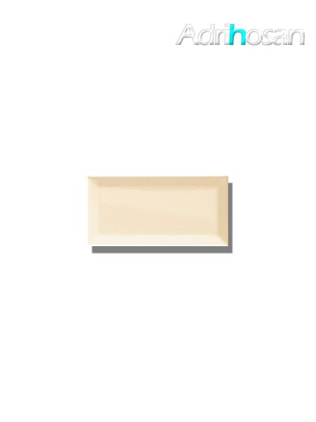 Azulejo biselado tipo metro beige 7.5x15 cm (1 m2/cj)