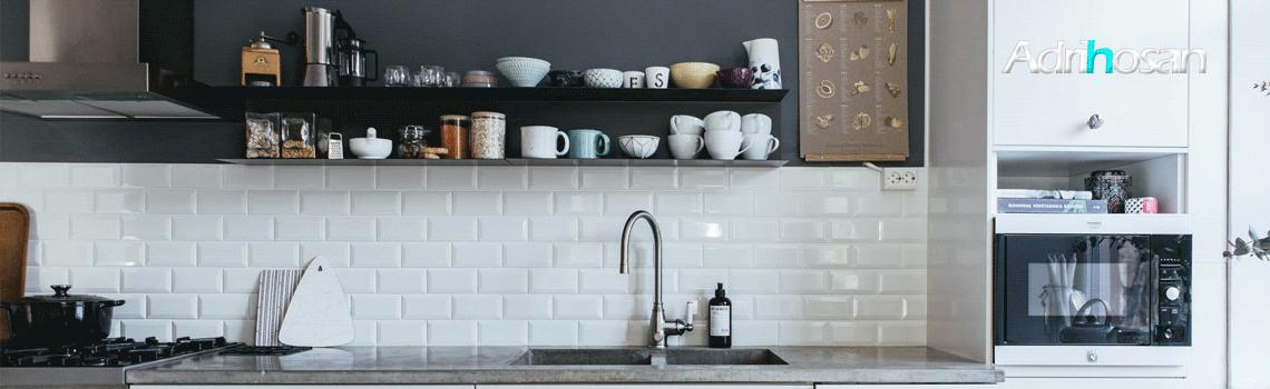 Azulejo biselado tipo metro blanco 7.5x15 cm. Revestimiento biselado bicocción para decoraciones estilo vintage en baños o cocinas.