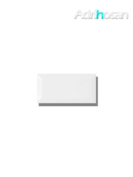 Azulejo biselado tipo metro blanco 7.5x15 cm (1 m2/cj)