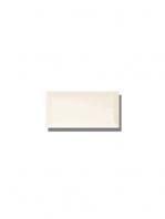 Azulejo biselado tipo metro blanco mate 7.5x15 cm. Revestimiento biselado bicocción para decoraciones estilo vintage en baños o cocinas.