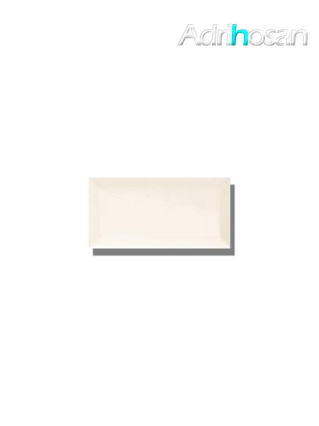 Azulejo biselado tipo metro blanco mate 7.5x15 cm (1 m2/cj)