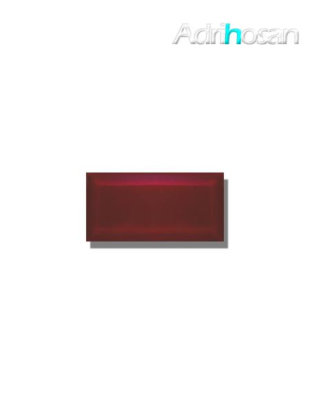 Azulejo biselado tipo metro burdeos 7.5x15 cm (1 m2/cj)