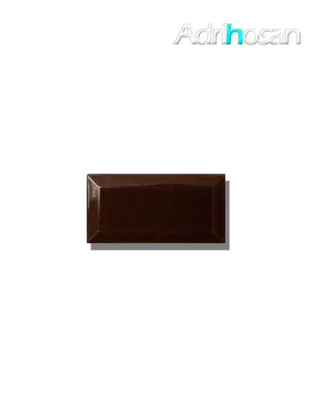 Azulejo biselado tipo metro chocolate 7.5x15 cm (1 m2/cj)