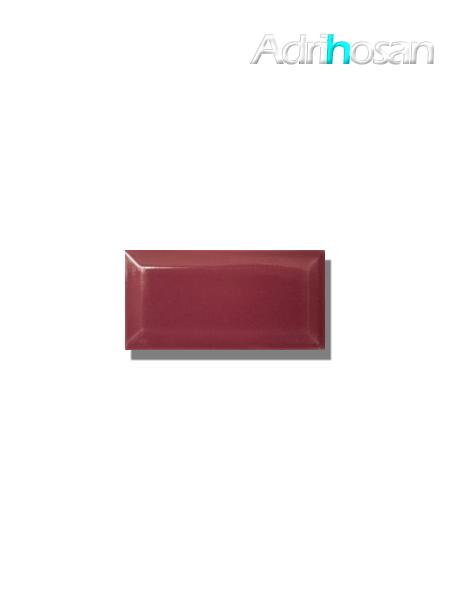 Azulejo biselado tipo metro fucsia 7.5x15 cm (1 m2/cj)