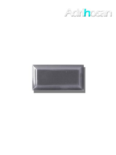 Azulejo biselado tipo metro gris 7.5x15 cm (1 m2/cj)