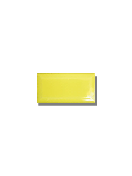 Azulejo biselado tipo metro lima 7.5x15 cm. Revestimiento biselado bicocción para decoraciones estilo vintage en baños o cocinas.