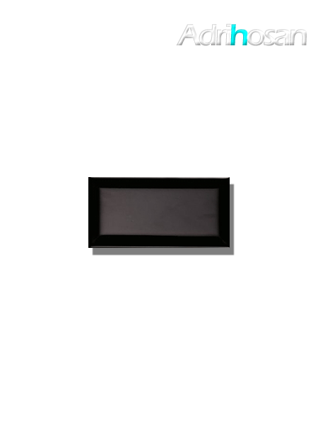 Azulejo biselado tipo metro negro 7.5x15 cm (1 m2/cj)