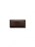 Azulejo biselado tipo metro negro mate 7.5x15 cm. Revestimiento biselado bicocción para decoraciones estilo vintage en baños o cocinas.