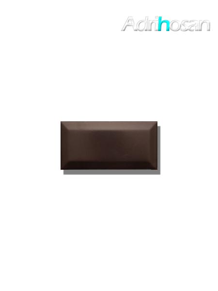 Azulejo biselado tipo metro negro mate 7.5x15 cm (1 m2/cj)