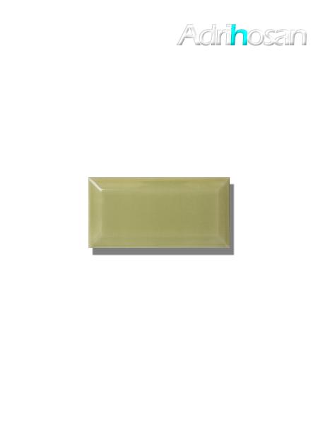 Azulejo biselado tipo metro pistacho 7.5x15 cm (1 m2/cj)