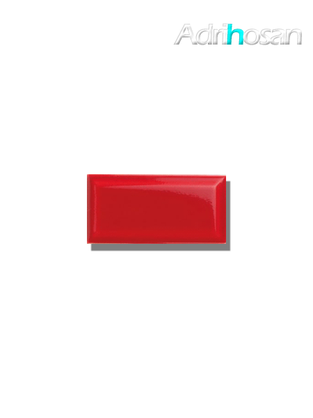 Azulejo biselado tipo metro rojo 7.5x15 cm (1 m2/cj)