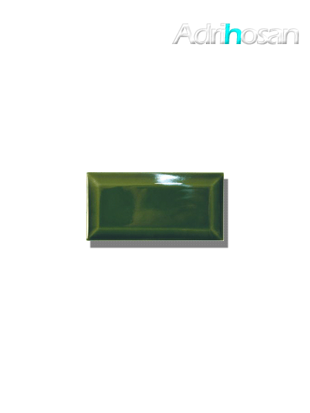 Azulejo biselado tipo metro verde vic 7.5x15 cm (1 m2/cj)