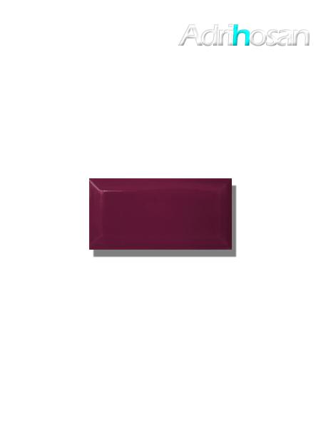 Azulejo biselado tipo metro violeta 7.5x15 cm (1 m2/cj)
