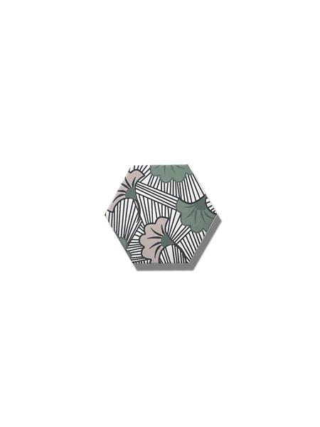 Azulejo hexagonal good vibes decor-1 14x16 cm. Revestimiento hexagonal porcelánico para decoraciones estilo vintage en baños o cocinas.