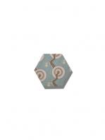 Azulejo hexagonal good vibes decor-2 14x16 cm. Revestimiento hexagonal porcelánico para decoraciones estilo vintage en baños o cocinas.