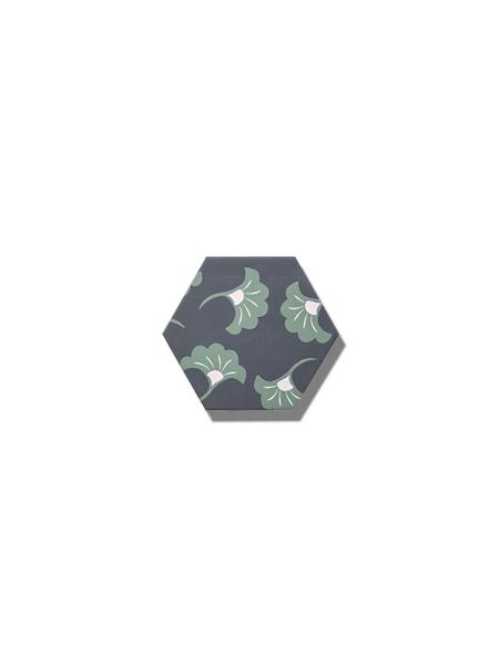 Azulejo hexagonal good vibes decor-3 14x16 cm. Revestimiento hexagonal porcelánico para decoraciones estilo vintage en baños o cocinas.