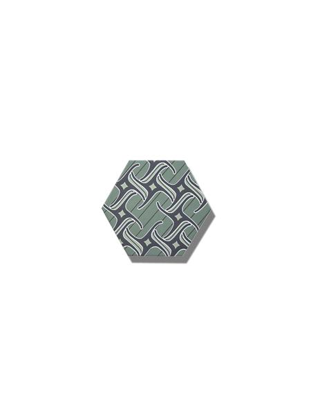 Azulejo hexagonal good vibes decor-4 14x16 cm. Revestimiento hexagonal porcelánico para decoraciones estilo vintage en baños o cocinas.