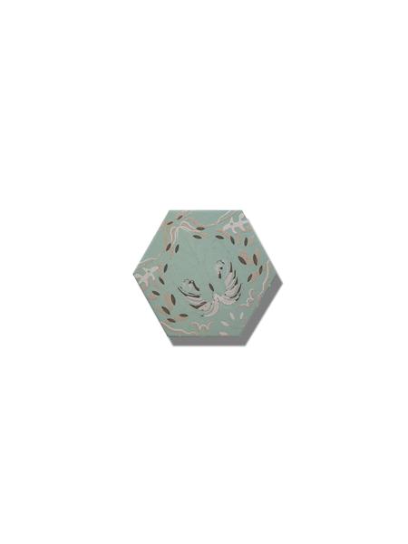 Azulejo hexagonal good vibes decor-5 14x16 cm. Revestimiento hexagonal porcelánico para decoraciones estilo vintage en baños o cocinas.