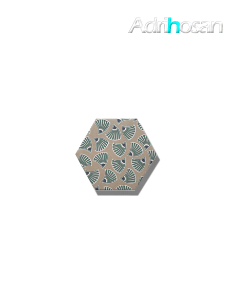 Azulejo hexagonal good vibes decor 6 14x16 cm (0.402 m2/cj)