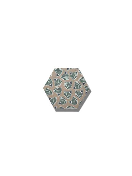 Azulejo hexagonal good vibes decor-6 14x16 cm. Revestimiento hexagonal porcelánico para decoraciones estilo vintage en baños o cocinas.