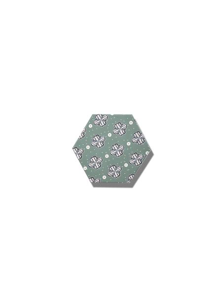 Azulejo hexagonal good vibes decor-7 14x16 cm. Revestimiento hexagonal porcelánico para decoraciones estilo vintage en baños o cocinas.