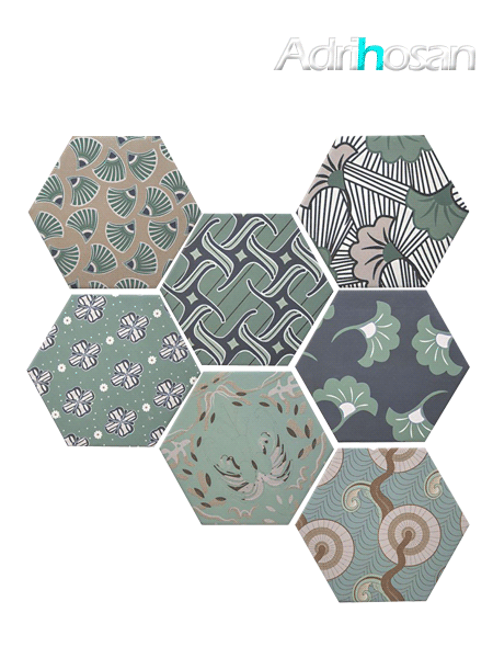 Azulejo hexagonal good vibes decor mix 14x16 cm (0.402 m2/cj)