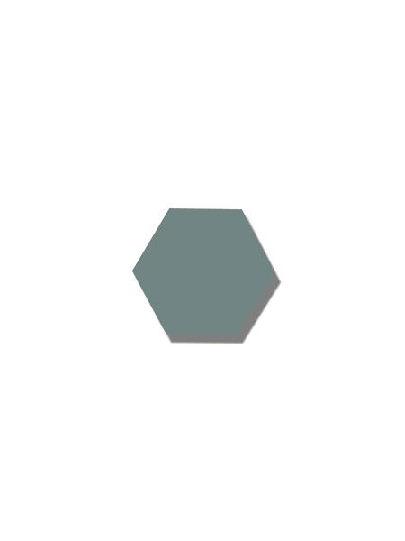 Azulejo hexagonal good vibes green 14x16 cm. Revestimiento hexagonal porcelánico para decoraciones estilo vintage en baños o cocinas.