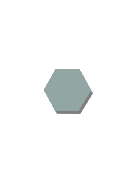 Azulejo hexagonal good vibes lagoon 14x16 cm. Revestimiento hexagonal porcelánico para decoraciones estilo vintage en baños o cocinas.