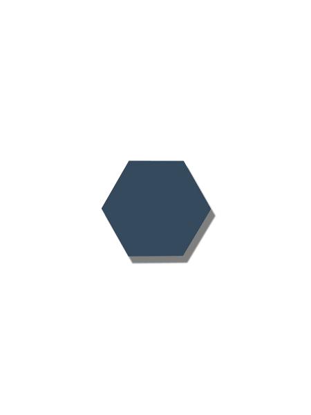 Azulejo hexagonal good vibes navy 14x16 cm. Revestimiento hexagonal porcelánico para decoraciones estilo vintage en baños o cocinas.