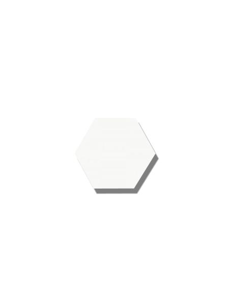 Azulejo hexagonal good vibes white 14x16 cm. Revestimiento hexagonal porcelánico para decoraciones estilo vintage en baños o cocinas.