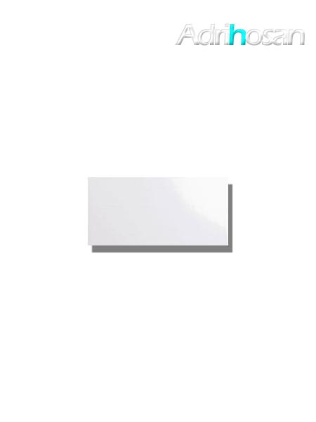 Azulejo tipo metro liso blanco brillo 10X20 cm (1 m2/cj)