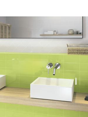 Azulejo tipo metro liso 10X20 cm. El clásico azulejo para decoraciones retro o vintage o incluso modernas o minimalistas. Primera calidad.