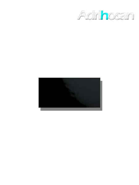 Azulejo tipo metro liso negro brillo 10X20 cm (1 m2/cj)