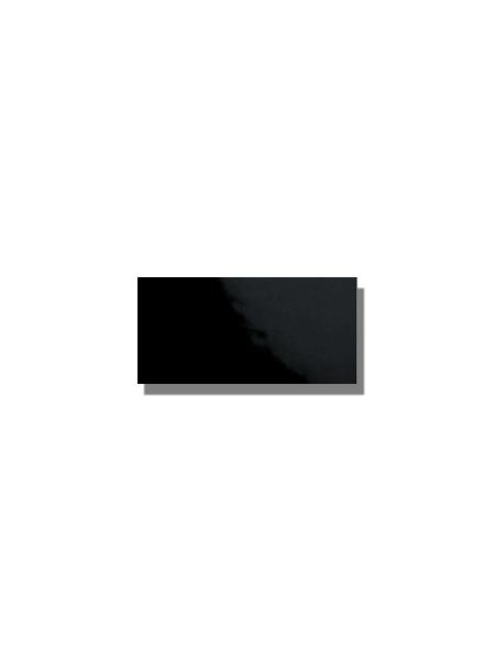 Azulejo tipo metro liso negro brillo 10X20 cm. El clásico azulejo para decoraciones retro o vintage o incluso modernas o minimalistas. Primera calidad.