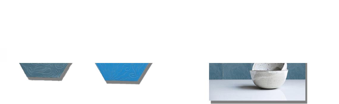 Baldosa hidráulica Hexagonal Relieve azul 23x20x1.5 cm de cemento pigmentado.Labaldosa hidráulicadecorativa con relieve única en el mercado.