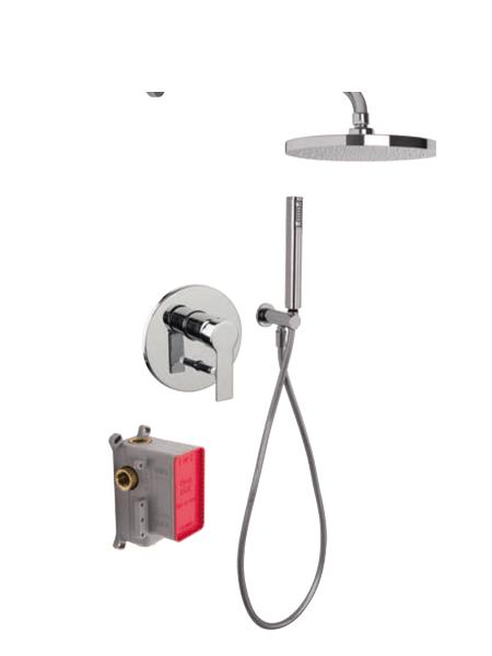Conjunto ducha con 2 salidas Mast design by Fima italia. Un set grifería empotrada diseñada por Fima fabricada en Italia.