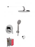 Conjunto ducha con 2 salidas Serie 4 design by Fima italia. Un set grifería empotrada diseñada por Fima fabricada en Italia.