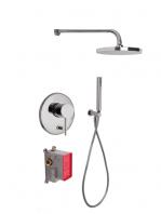 Conjunto ducha con 2 salidas Spillo Up design by Fima italia. Un set grifería empotrada diseñada por Fima fabricada en Italia.