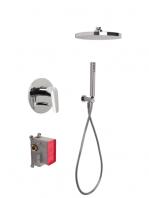 Conjunto ducha con 2 salidas Spot design by Fima italia. Un set grifería empotrada diseñada por Fima fabricada en Italia.