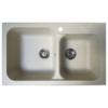 Fregadero de fibra zentia bee 2C brillo bajo o sobre encimera. La utilización de fibra de vidrio permite fregaderos más ligeros y con mucho diseño.