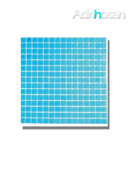 Gresite para piscinas tesela 2x2 cm malla 30x30 cm Azul claro