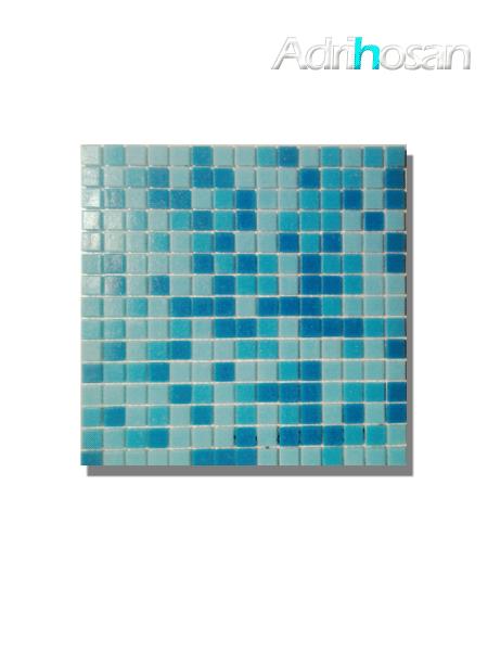 Gresite para piscinas tesela 2x2 cm malla 30x30 cm Azul mix