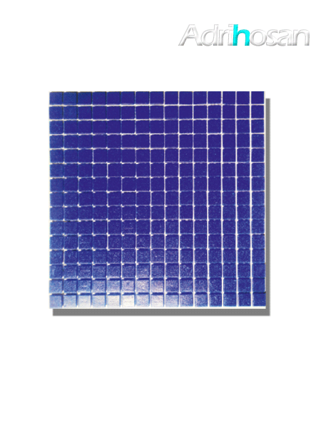 Gresite para piscinas tesela 2x2 cm malla 30x30 cm Azul oscuro C050