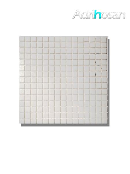 Gresite para piscinas tesela 2x2 cm malla 30x30 cm blanco.