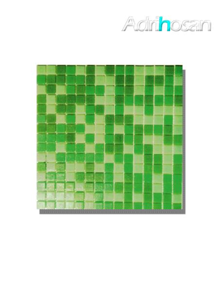 Gresite para piscinas tesela 2x2 cm malla 30x30 cm Verde mix