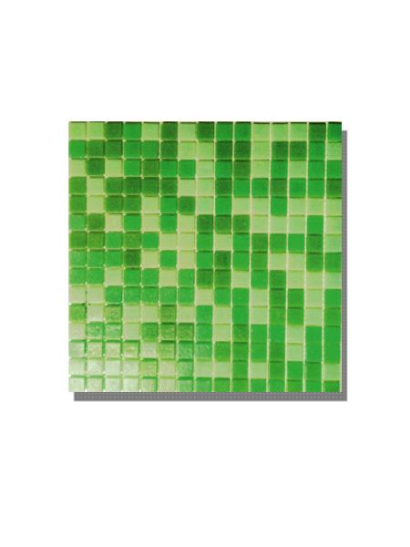 Gresite para piscinas tesela 2x2 cm malla 30x30 cm Verde mix. Un gresite en tonalidades verdes que hará tu piscina única. Gran calidad. En Stock.