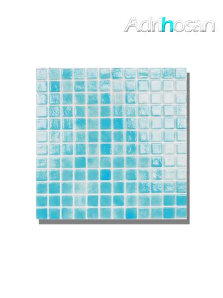 Gresite para piscinas tesela 2,5x2,5 cm malla 30x30 cm Azul claro