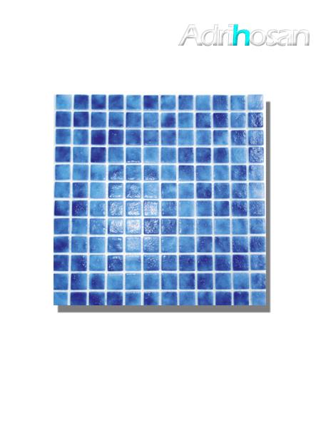 Gresite para piscinas tesela 2,5x2,5 cm malla 30x30 cm Azul oscuro