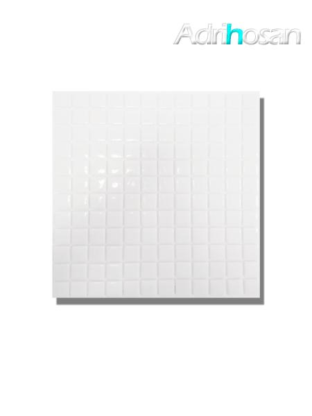 Gresite para piscinas tesela 2,5x2,5 cm malla 30x30 cm blanco.